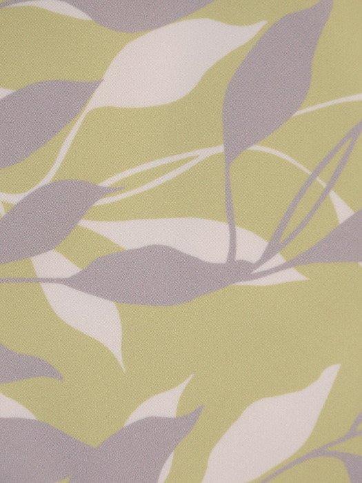 Prosta sukienka w kontrastowe liście, wizytowa kreacja wyszczuplająca 20310