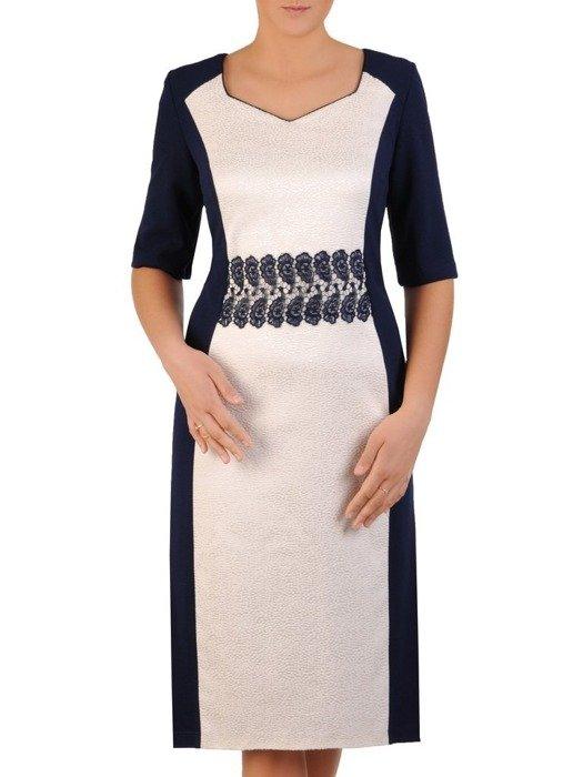 Prosta sukienka wizytowa, kreacja z wyszczuplającymi wstawkami 23691