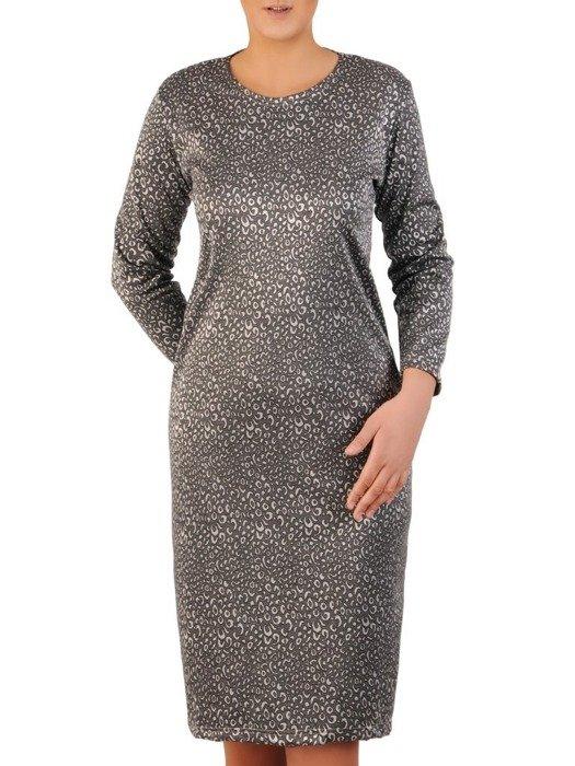Prosta sukienka z dzianiny, kreacja w oryginalnym wzorze 23998