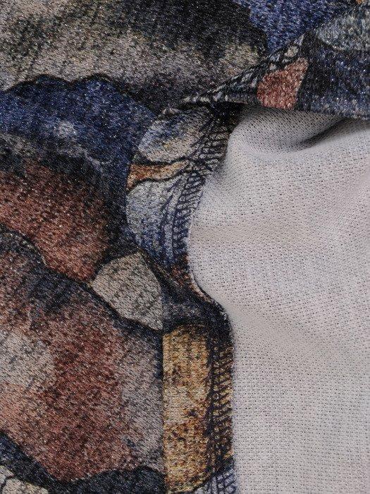 Prosta sukienka z nowoczesnej, wzorzystej dzianiny 18180.