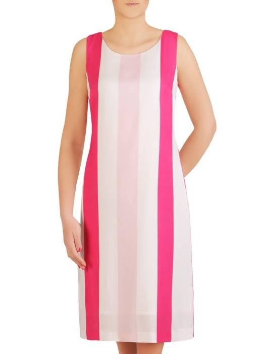Prosta sukienka z ozdobnym wiązaniem na plecach 29254