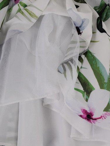 Rozkloszowana sukienka w nowoczesnym fasonie 15916.