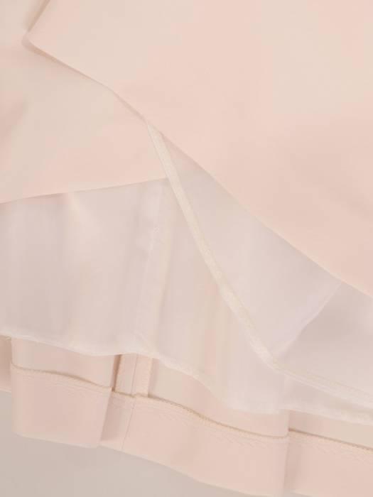 Rozkloszowana sukienka z kokardą, kreacja z koronkowym topem 30145