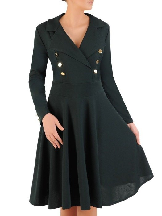 Rozkloszowana sukienka z ozdobnymi guzikami 24166