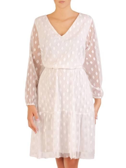 Rozkloszowana sukienka z tiulu w modne grochy 30283
