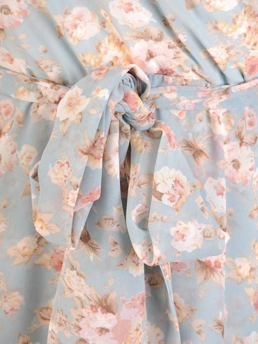 Rozkloszowana sukienka ze zwiewnego szyfonu 30042