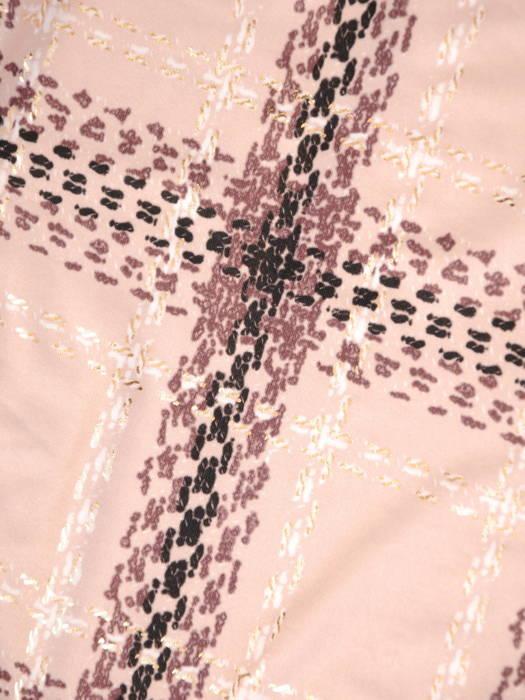 Rozpinana bluzka z ozdobnymi patkami w modną kratę 30989