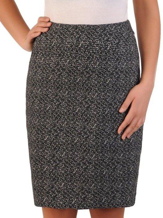 Spódnica damska z melanżowej tkaniny 24055
