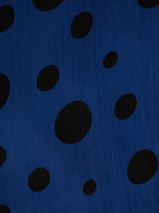Sukienka chabrowa w grochy, luźna kreacja z szyfonu 19872.