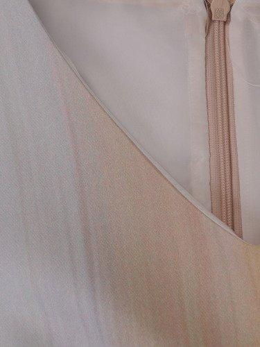 Sukienka damska 15043, wiosenna kreacja z ażurowymi rękawami.