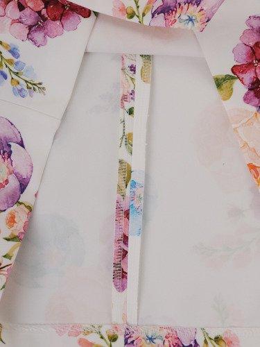 Sukienka damska 16032, wiosenna kreacja w kwiaty.
