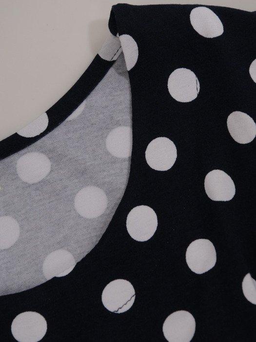 Sukienka damska 17129, letnia kreacja w groszki.