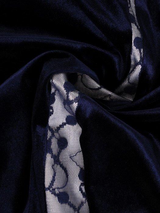 Sukienka damska 19203, wyszczuplająca kreacja z koronki i aksamitu.