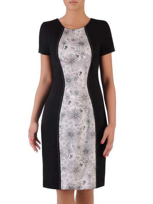 Sukienka damska Amadea, wiosenna kreacja w wyszczuplającym fasonie.