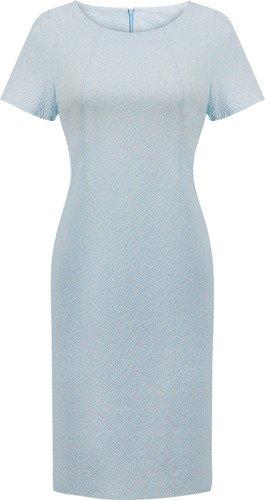 Sukienka damska Aurela I, elegancka kreacja z tkaniny żakardowej.