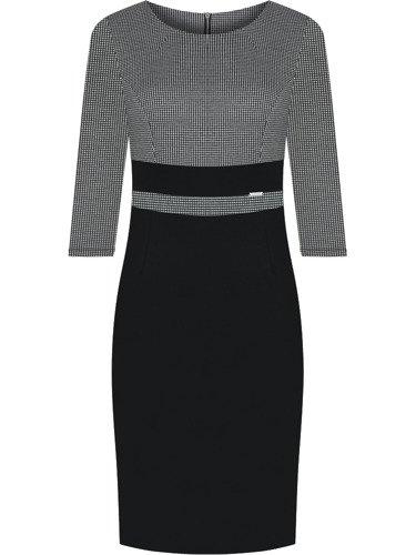 Sukienka damska Dagna IV, jesienna kreacja w wyszczuplającym fasonie.
