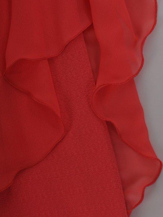 Sukienka damska Fransiska VIII, elegancka kreacja w fasonie maskującym brzuch.