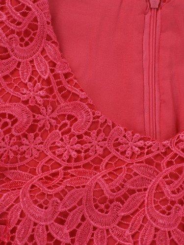 Sukienka damska Hiacenta III, elegancka kreacja z koronki i szyfonu.
