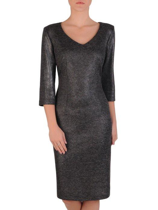 Sukienka damska Irwina IX, prosta kreacja z dzianiny.