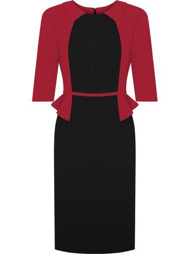 Sukienka damska Jolanta II, efektowna kreacja z modną baskinką.