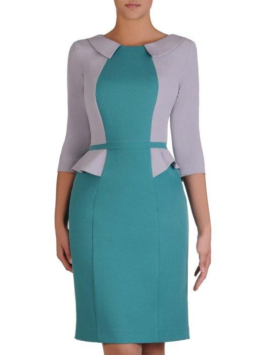 Sukienka damska Jolanta III, efektowna kreacja z modną baskinką.