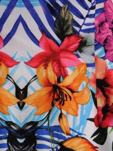 Sukienka damska Malwa, oryginalna kreacja w kwiaty.
