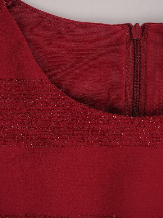 Sukienka damska Natasza II, jesienna kreacja z delikatnym połyskiem.