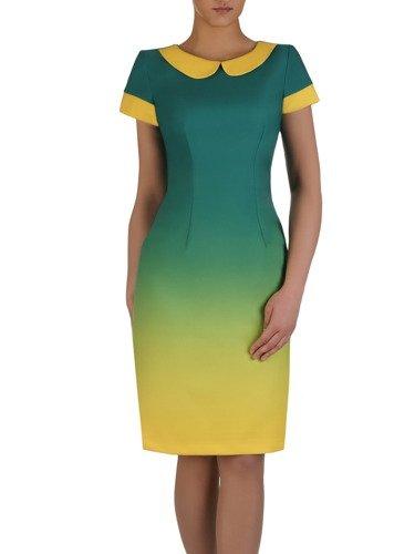 Sukienka damska Telinda XIV, elegancka kreacja z modnym kołnierzykiem.