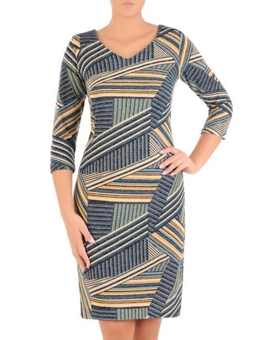 Sukienka damska, dzianinowa kreacja na jesień 27541