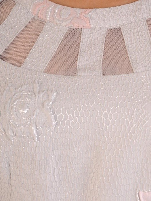 Sukienka damska, elegancka kreacja w wytłaczane róże 25992