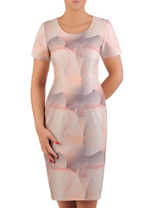 Sukienka damska, prosta kreacja z tkaniny 21222.