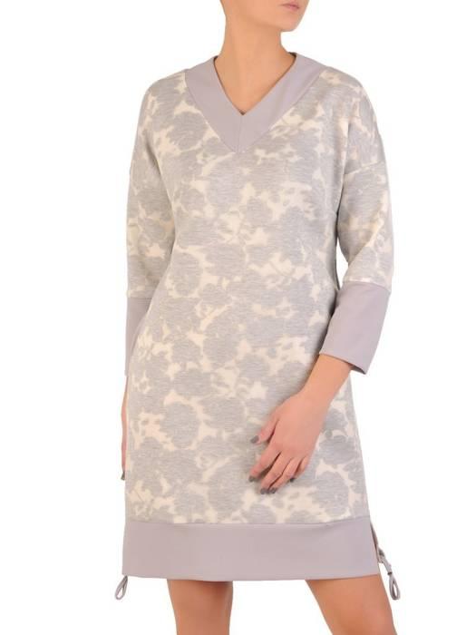 Sukienka damska w oryginalnym wzorze z kieszeniami 28605