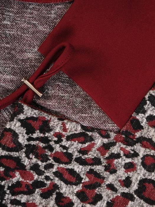 Sukienka damska w panterkę z kieszeniami 28306