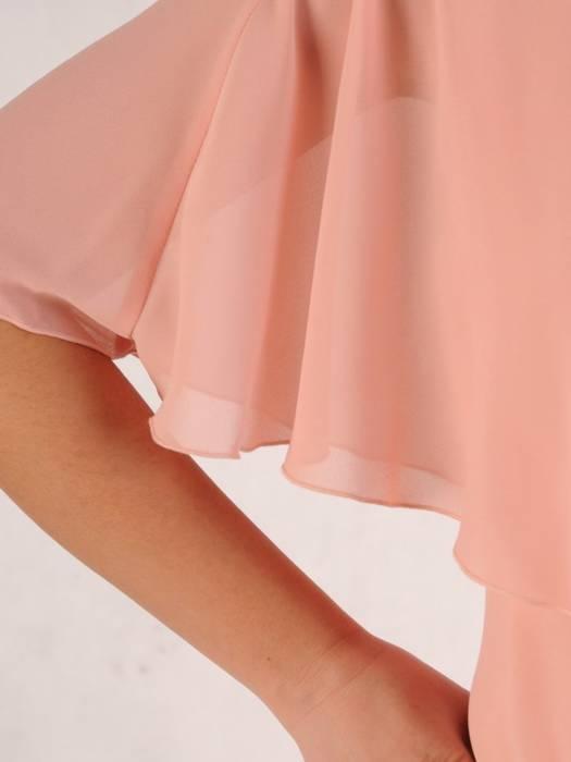 Sukienka damska, wiosenna kreacja w modnym fasonie z ozdobną narzutą 28393