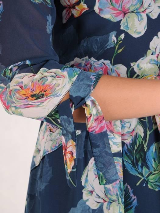 Sukienka damska, wizytowa kreacja w luźnym fasonie 28171