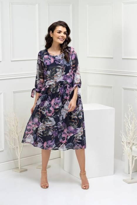 Sukienka damska, wizytowa kreacja w luźnym fasonie 29163