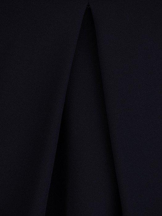 Sukienka damska z tkaniny, granatowa kreacja z tkaniny 20011.