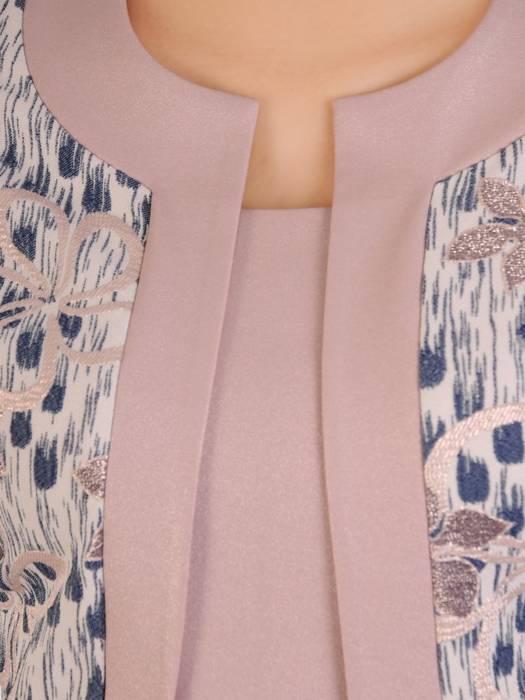 Sukienka damska z tkaniny, kreacja z imitacją żakietu 29720