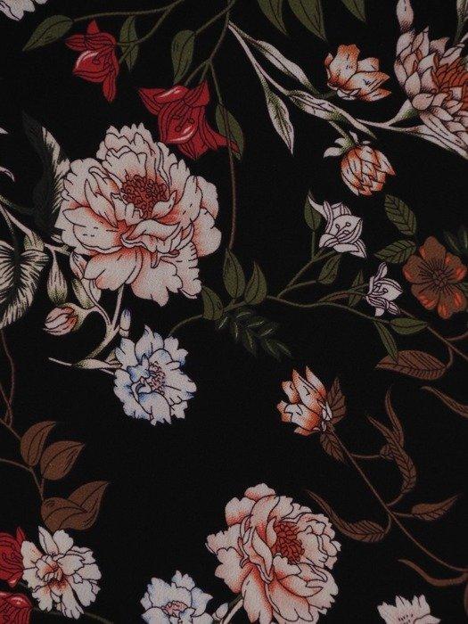 Sukienka koktajlowa, zwiewna kreacja z falbanami 23670