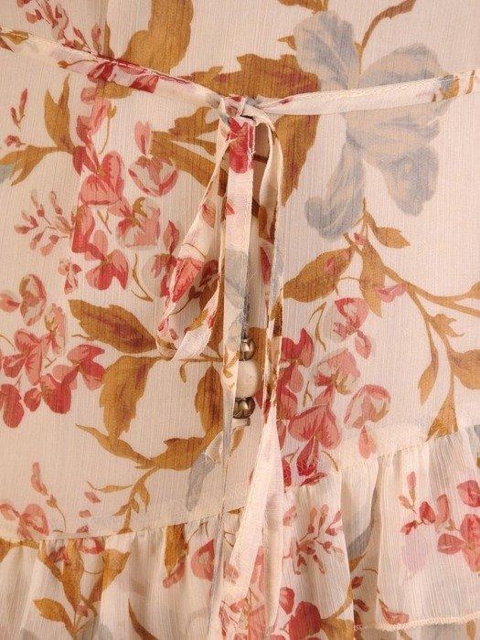 Sukienka koktajlowa, zwiewna kreacja z szyfonu 26033