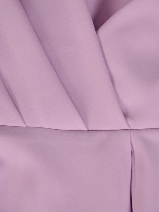 Sukienka kopertowa, liliowa kreacja z rozcięciem 20207.