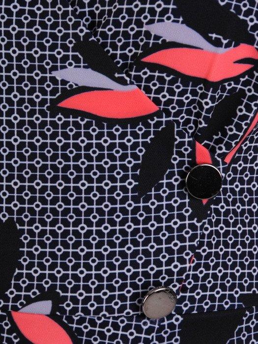 Sukienka kopertowa, wiosenna kreacja w wyszczuplającym fasonie 19650.
