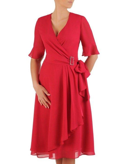 Sukienka kopertowa, zwiewna kreacja z szyfonu 26027