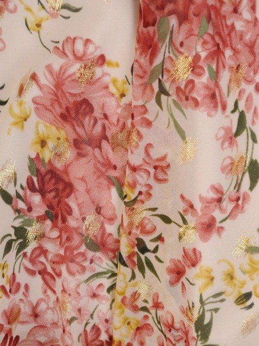 Sukienka letnia, zwiewna kreacja w kwiaty 25911