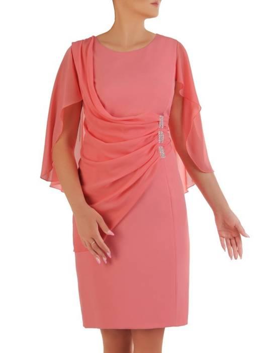 Sukienka na wesele, elegancka kreacja maskująca brzuch 26402