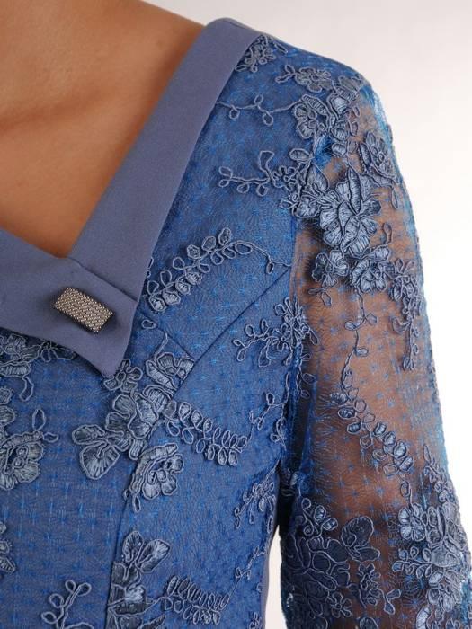 Sukienka na wesele, modna kreacja z koronki i tkaniny 26388