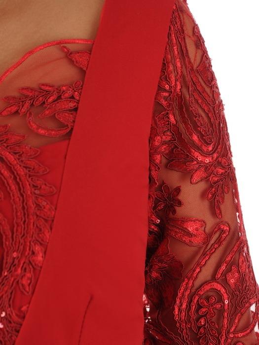Sukienka na wesele, wyszczuplająca kreacja z koronkowym wykończeniem 22523