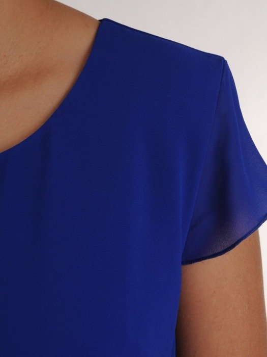 Sukienka szyfonowa, modna kreacja wyszczuplająca 25197