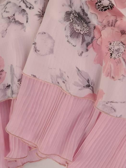 Sukienka w kwiaty, zwiewna kreacja z szyfonu 26385