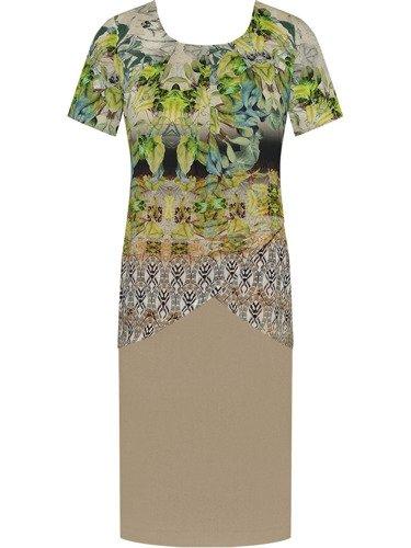 Sukienka warstwowa Lupita II, kreacja wyszczuplająca z szyfonu.
